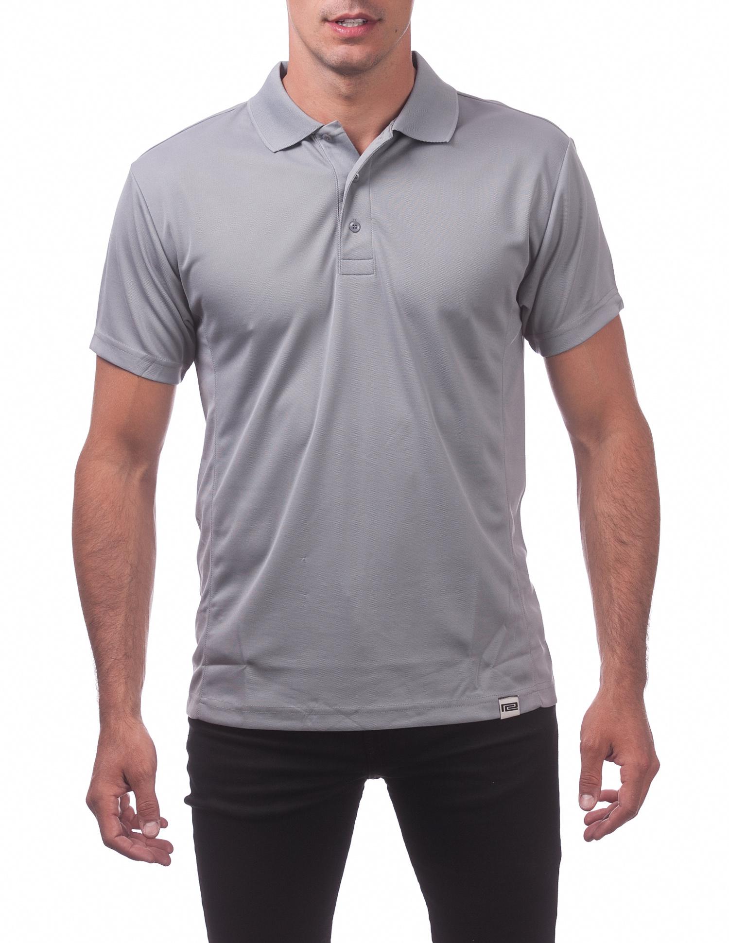 155 Gray Performance Drypro Short Sleeve Polo Long Sleeve Tee
