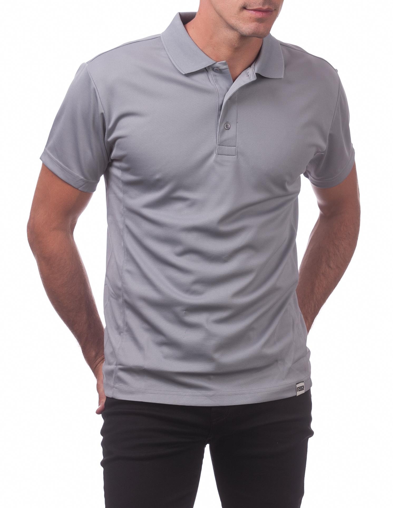 155 Gray Performance Drypro Short Sleeve Polo