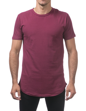 Longline Curved Hem Short Sleeve T-Shirt