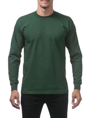 Heavyweight Cotton Long Sleeve Crew Neck T-Shirt