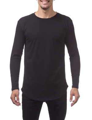Curved Hem Longline Tall Long Sleeve Tee