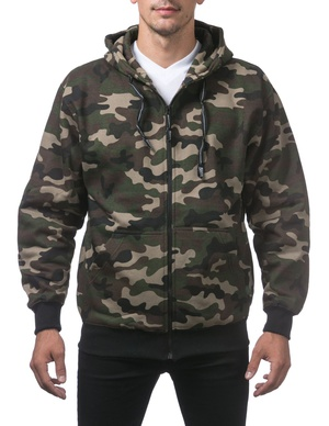 Heavyweight Full Zip Fleece Hoodie (Camo)