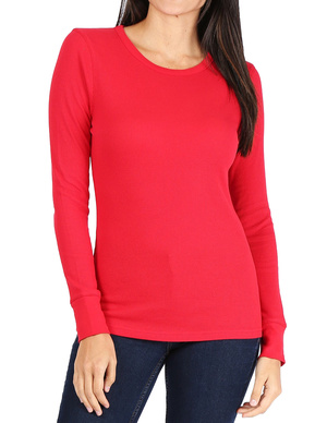 Women's Long Sleeve Thermal Crew Neck Tee